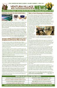 April 2015 Ventura Village Neighborhood News