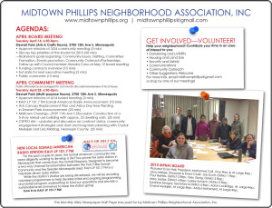 Midtown Phillips Neighborhood Association-April 2015