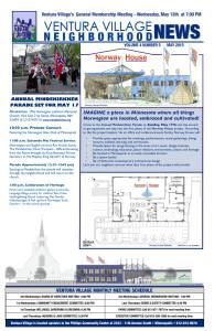 May 2015 Ventura Village Neighborhood News