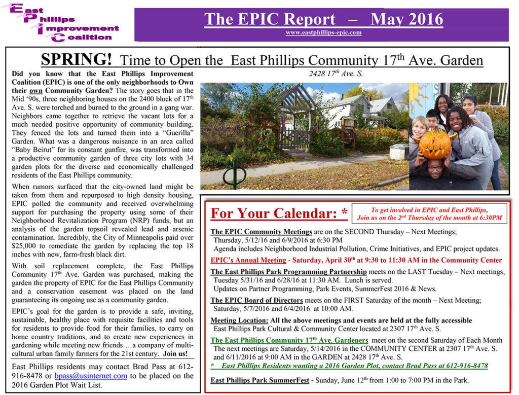 EPICAlleyReportforMay2016Final1