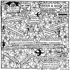 MAY DAY CARTOON COLORING CONTEST