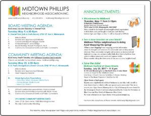 Midtown Phillips Neighborhood Association News-May 2017