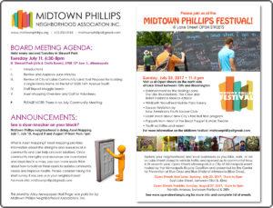 Midtown Phillips Neighborhood Association News-July 2017