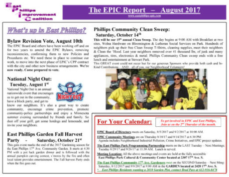 epic report-august 2017 | the alley newspaper