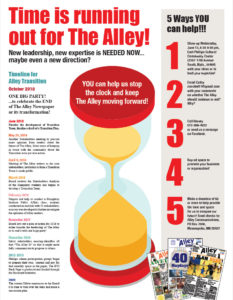 Time is running out for The Alley!