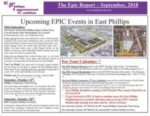 East Phillips Improvement Coalition News – September 2018