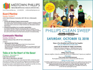 Midtown Phillips Neighborhood Association – October 2018