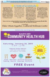 Backyard Community Health Hub December 2018-January 2019