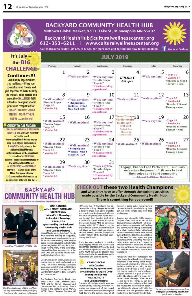 Backyard Community Health Hub July 2019