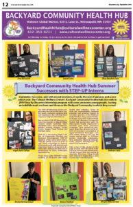 Backyard Community Health Hub September 2019