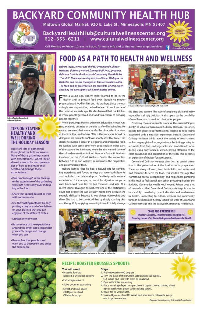 Backyard Community Health Hub December/January