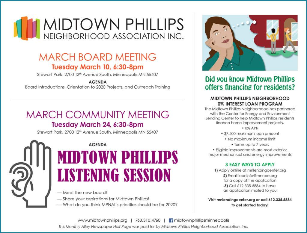 March 2020 – Midtown Phillips Neighborhood Association
