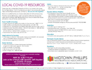 Midtown Phillips Neighborhood Association May News