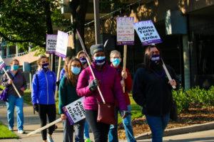 Unfair Labor Practices strike at Abbott Northwestern Hospital on October 5 and 6.