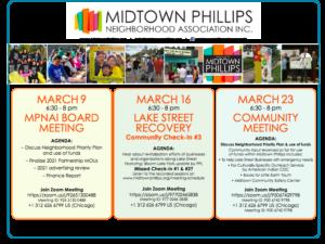 Midtown Phillips Neighborhood Association Inc. News: March